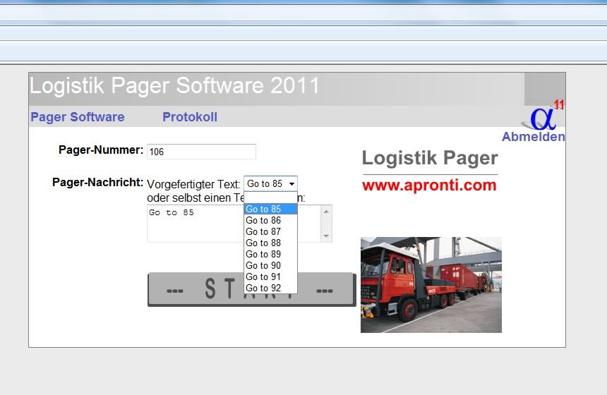 Pager-Software mit einfach bedienbarer Oberfläche