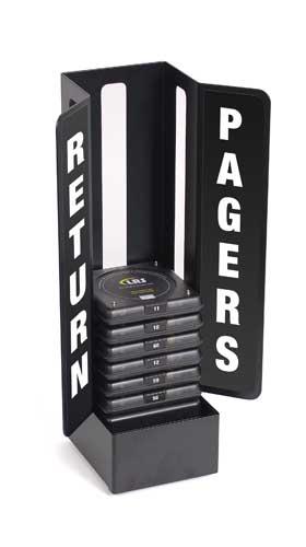 Metall-Halterung als Pager Rückgabestation für die Logistik-Pager