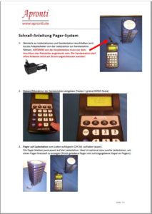 Pager-Anleitung Handbuch Alpha11 Pagersystem