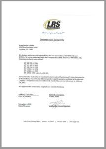 CE Konformitätserklärung Logistik-Pager LRS