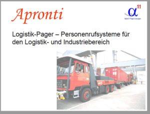 Infos über die Funktionsweise der Aronti Logistik-Pager von Alpha11