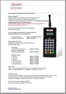 Handbuch zur 20-Tasten Sendestation Alpha11 LRS