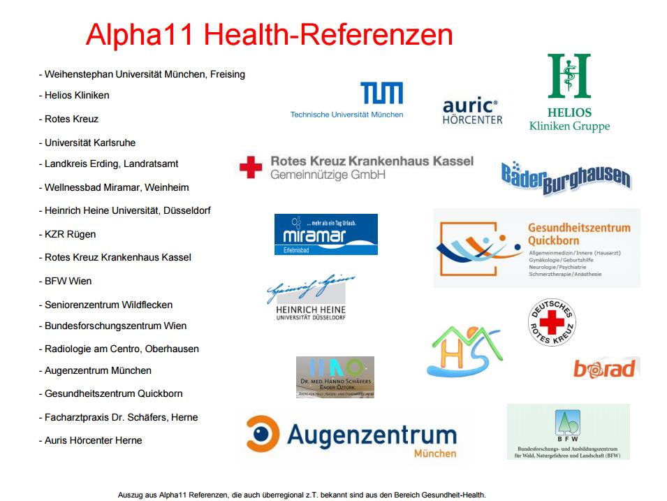 Referenzen von Alpha11 im Bereich Pager, Video & IT