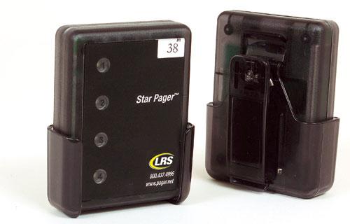 Star-Pager mit Gürtelclip um Fahrer zu informieren