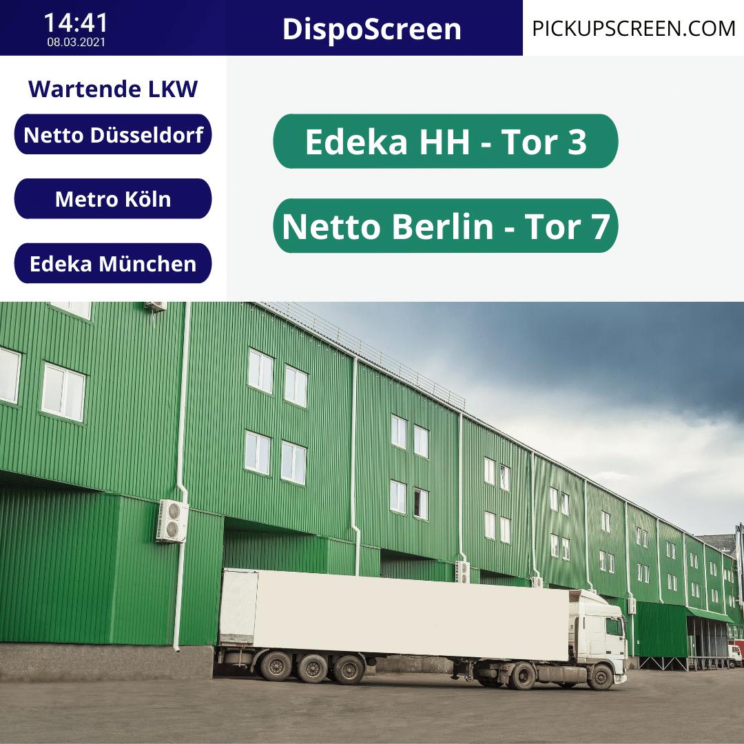 DispoScreen - Aufrufsystem für Logistiker